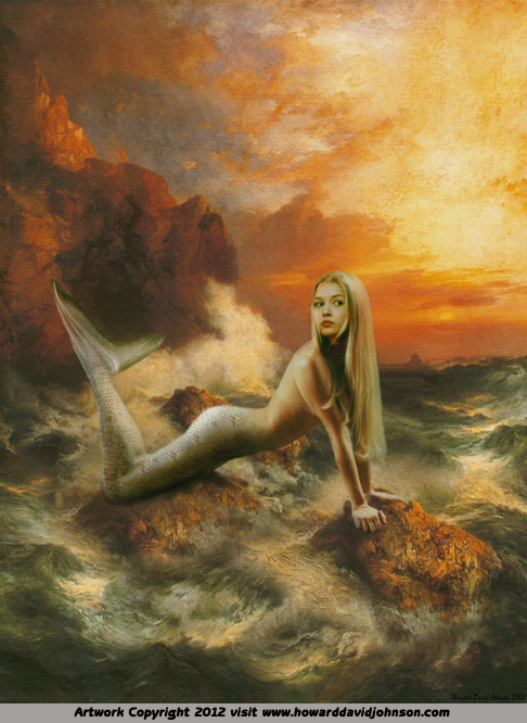 fantasy art mermaid painting