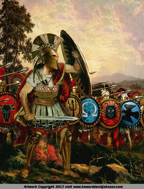 Spartain warriors Greek Hoplights Phalanx
