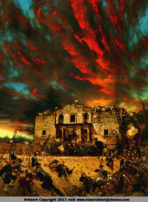 The Alimo painting Texas history art